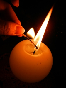 Kerzen polieren